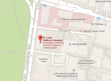St Louis Children's Hospital map